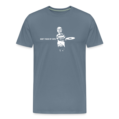 Don't touch my vinyl (wit) - Mannen Premium T-shirt