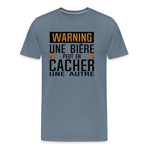biere peut cacher autre alcool panneau humour - T-shirt Premium Homme