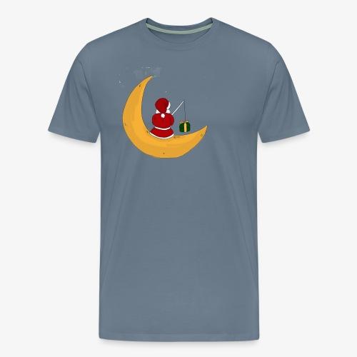 Santa sur un croissant de lune - Men's Premium T-Shirt