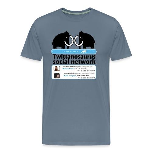 homo sapins versus neandertal - T-shirt Premium Homme