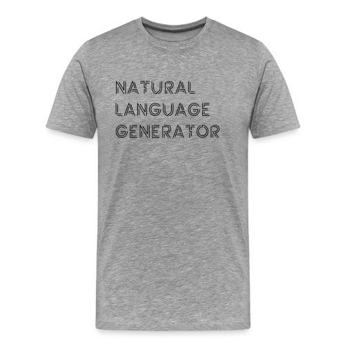 Natural Language Generator - Mannen Premium T-shirt