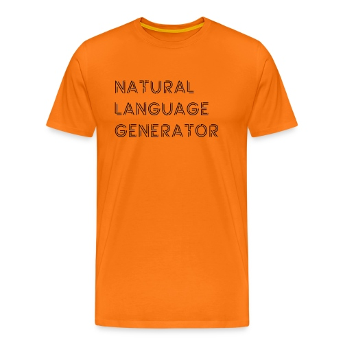 Natural Language Generator - Mannen Premium T-shirt