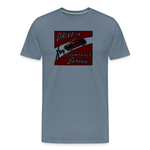 vintage drive in PNG - T-shirt Premium Homme