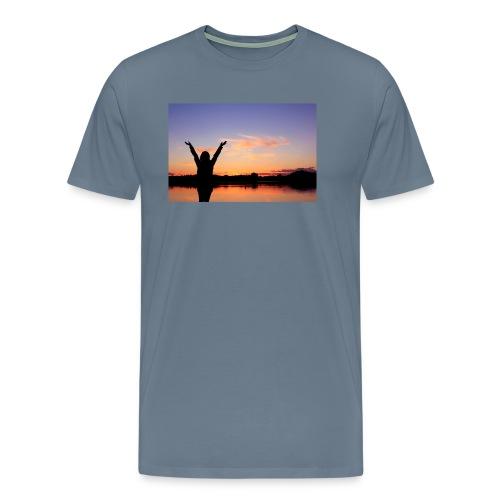 Praise, Vrijheid, Zonsondergang Pruduct - Mannen Premium T-shirt