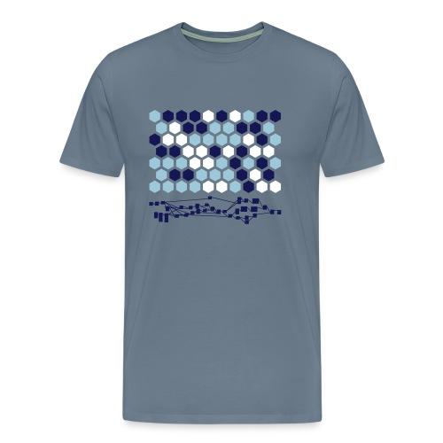 Hexagonal Tiles with Nodetree - Men's Premium T-Shirt