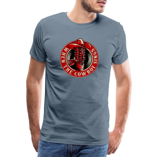 Logo when the cowboy sings - Camiseta premium hombre