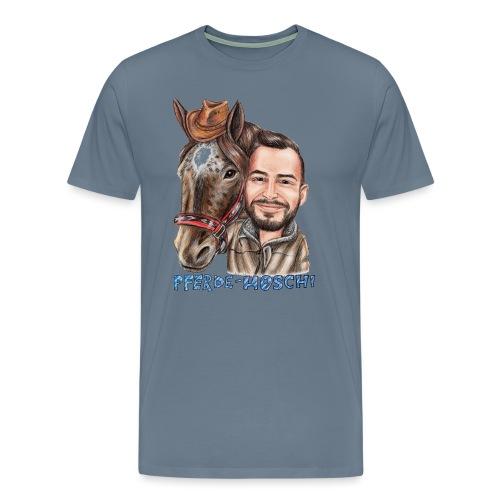 Pferde-Hoschi Kollektion hinten - Männer Premium T-Shirt