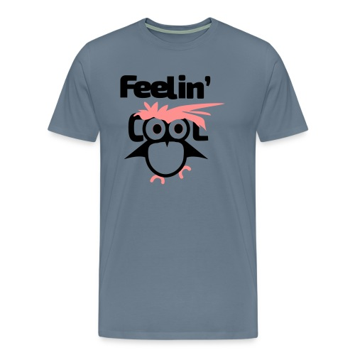 Feelin good_owl - Miesten premium t-paita