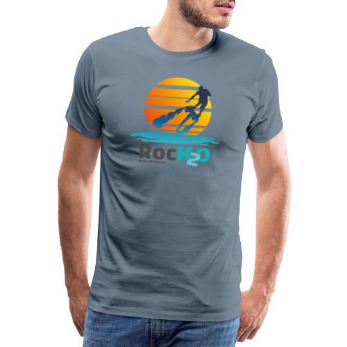 Rock2O Flyboard Sunset - Männer Premium T-Shirt