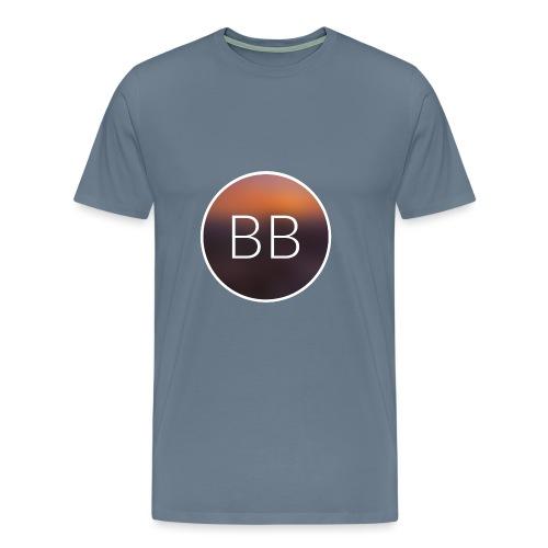 Blue Bros rund, mit Bild im Blur - Männer Premium T-Shirt