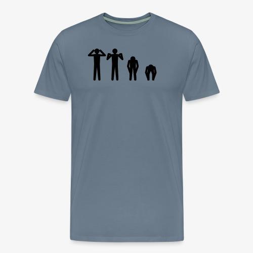 Hode, skulder, kne og tå - Premium T-skjorte for menn