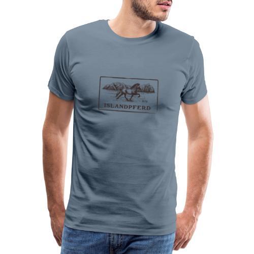 Islandpferd in Isländischer Landschaft - Männer Premium T-Shirt