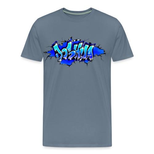 GRAFFITI JOSHUA WALL BROKEN BLUE - T-shirt Premium Homme