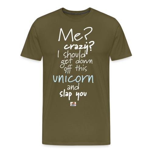 Crazy Unicorn - Dark - Men's Premium T-Shirt