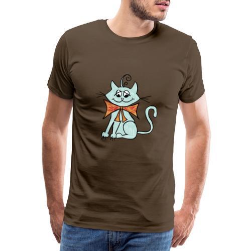 NIedliche blaue Katze - Männer Premium T-Shirt