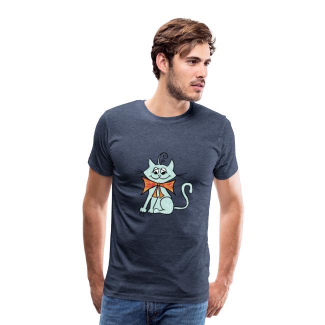 NIedliche blaue Katze