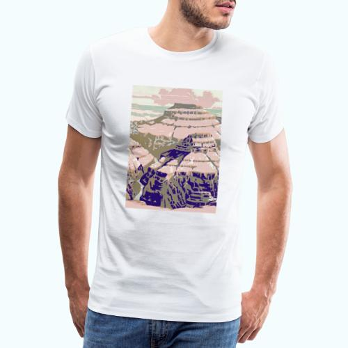 Rocky Mountains Vintage Travel Poster - Men's Premium T-Shirt