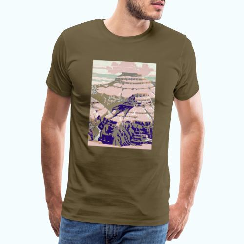 Rocky Mountains Vintage Travel Poster - Men's Premium T-Shirt