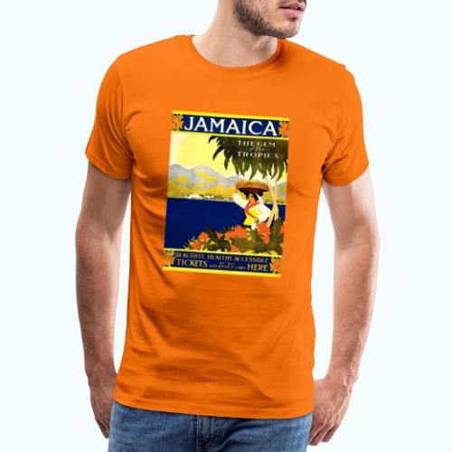 Jamaica Vintage Travel Poster - Men's Premium T-Shirt