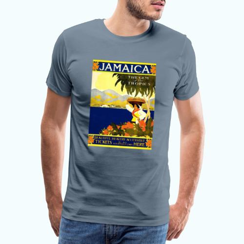 Jamaica Vintage Travel Poster - Men's Premium T-Shirt