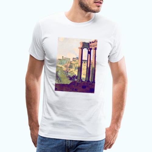 Rome Vintage Travel Poster - Men's Premium T-Shirt