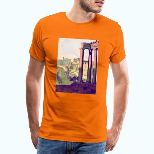 Rome Vintage Travel Poster - Men's Premium T-Shirt