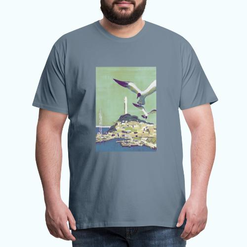 San Francisco Vintage Travel Poster - Men's Premium T-Shirt