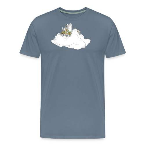 cloud house - Men's Premium T-Shirt
