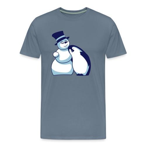Schneemann und Pinguin - Männer Premium T-Shirt