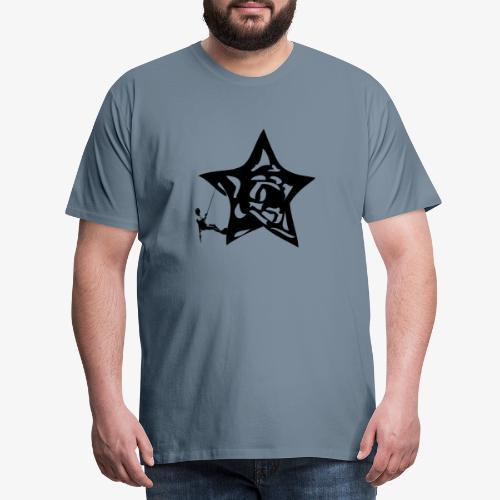 Rapel desde estrella - Star Rappel - Climb - Men's Premium T-Shirt