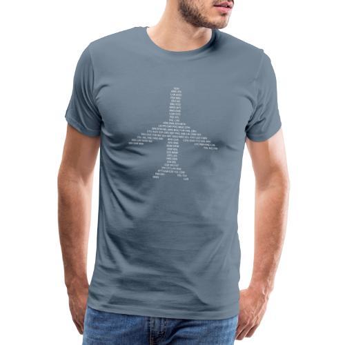 IATA-koodit lentokone - valkoinen - Miesten premium t-paita