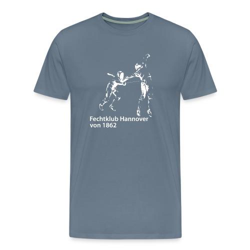 Fechter grafisch weiss - Männer Premium T-Shirt