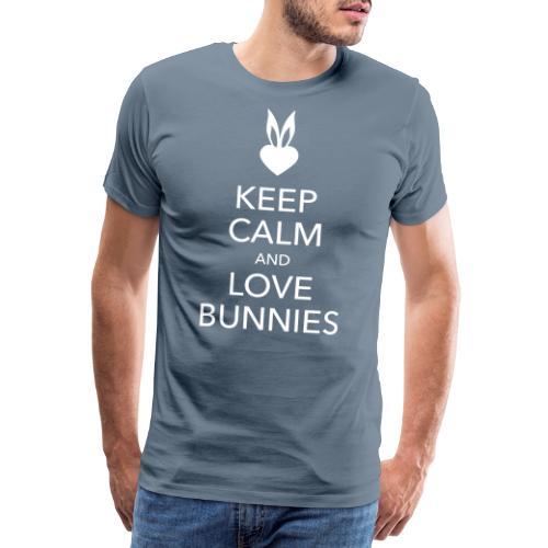 keep calm and love bunnies Hasen Liebe Herz - Männer Premium T-Shirt