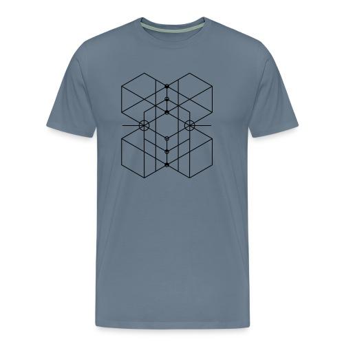 Sacred Geometry 3 - Männer Premium T-Shirt