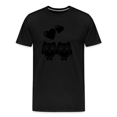 verliebte Eulen - Männer Premium T-Shirt
