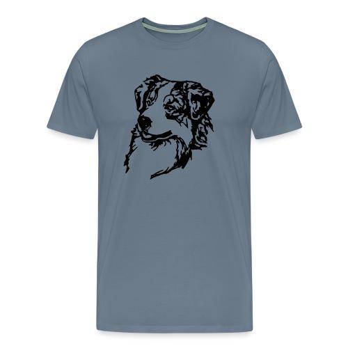 Australian Shepherd Kopf - Männer Premium T-Shirt