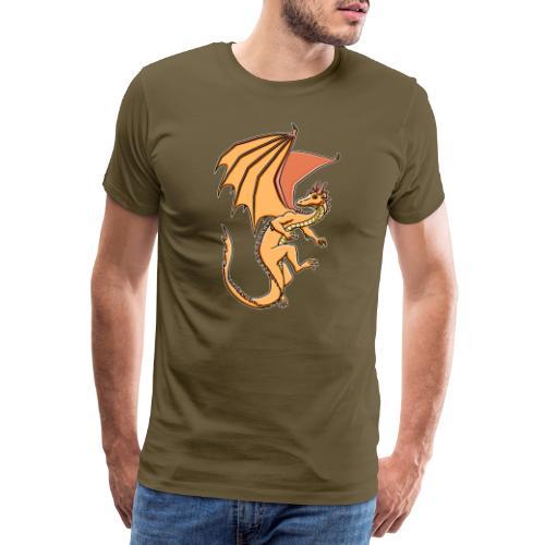 Drache, orange - Männer Premium T-Shirt