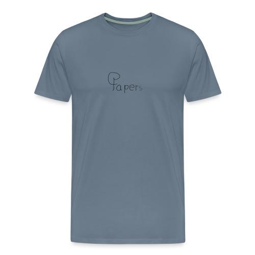 Logo Papers Noir png - T-shirt Premium Homme