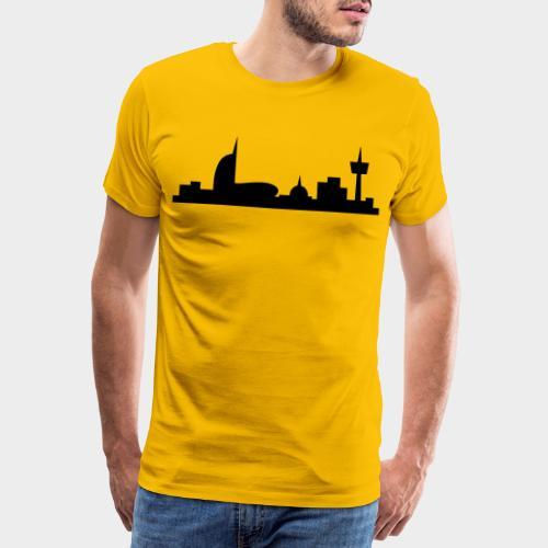 Bremerhaven Skyline V2016 Full - Männer Premium T-Shirt
