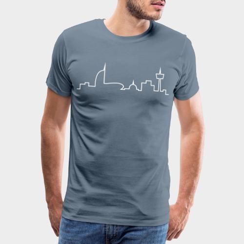 Bremerhaven Skyline V2016 - Männer Premium T-Shirt