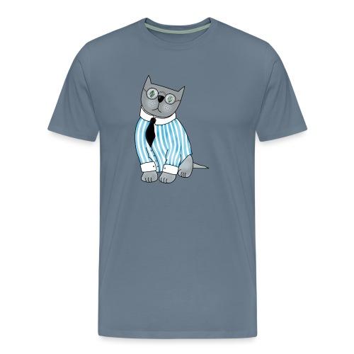 Cat with glasses - Men's Premium T-Shirt