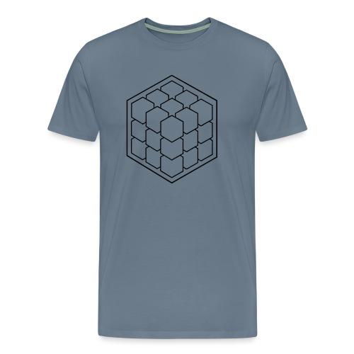 Cubik Monochrome - T-shirt Premium Homme