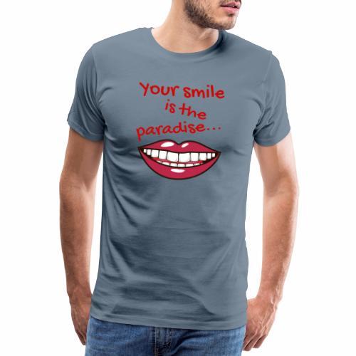 Smile lustige Sprüche shirt design - Männer Premium T-Shirt