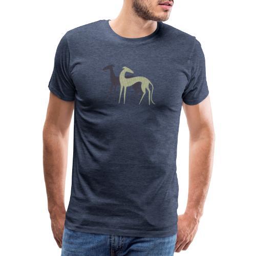 Zwei Windhunde - Männer Premium T-Shirt