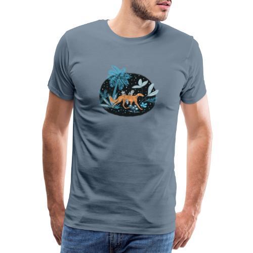 Saluki im Tropenwald - Männer Premium T-Shirt