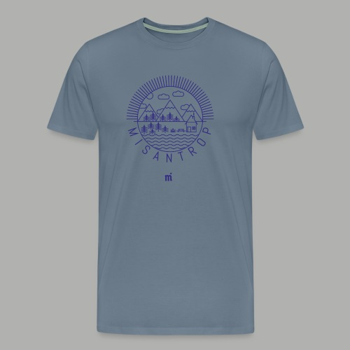 Misantrop - Blått tryck - Premium-T-shirt herr