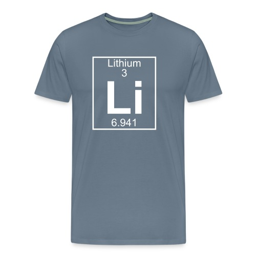 Lithium (Li) (element 3) - Men's Premium T-Shirt