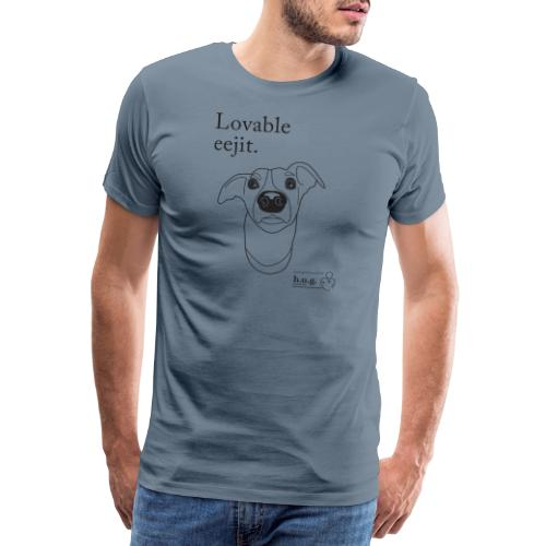 Lovable eejit in black - Men's Premium T-Shirt