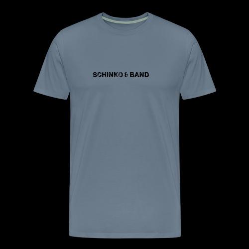 SCHINKO BAND Logo Schwarz - Männer Premium T-Shirt