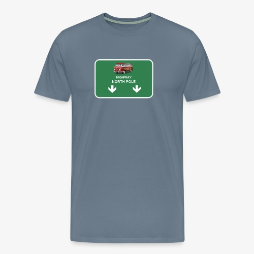 highway to the North Pole - Men's Premium T-Shirt